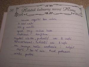 przepis z bloga zapisany w przepiśniku mamy:-)
