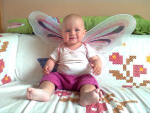 Tosia motylek w Klubie malucha:-)